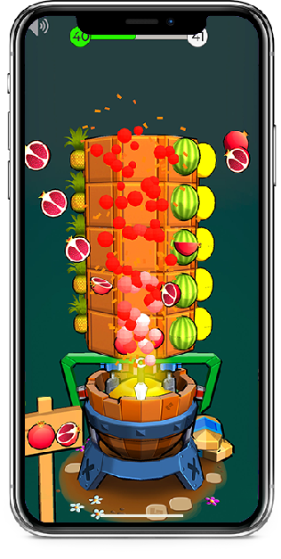 Fruit Mixers ios Game for iPhone X and Xs Xr etc